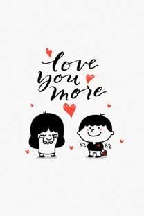 可爱卡通爱情情侣